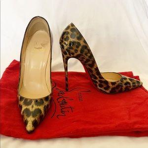 Christian Louboutin So Kate Leopard heel.